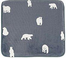 Epinki Flanell Teppiche Eisbär Muster Teppiche