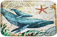 Epinki Flanell Teppiche Wal Muster Teppiche für