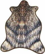 Epinki Flanell Teppiche Wolf Muster Teppiche für