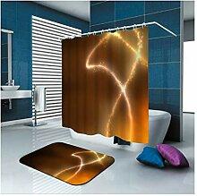 Epinki Polyester Duschvorhang & Badezimmerteppich