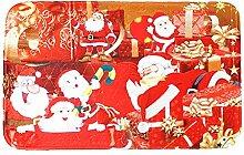 Epinki Polyester Teppiche 6 Santa Claus Muster