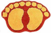 Epinki Polyester Teppiche Fußabdruck Muster