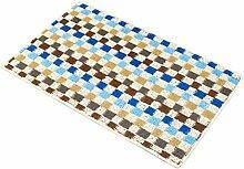 Epinki Polyester Teppiche Gitter Muster Teppiche