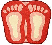 Epinki Polyester Teppiche Großer Fuß Muster