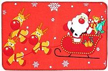 Epinki Polyester Teppiche Hirsch, Santa Claus
