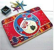 Epinki Polyester Teppiche Karikatur Santa Muster