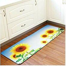 Epinki Polyester Teppiche Sonnenblume Muster