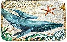 Epinki Polyester Teppiche Wal Muster Teppiche für