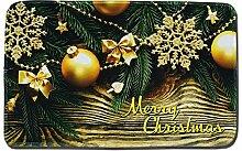 Epinki Polyester Teppiche Weihnachten Kugel Schnee