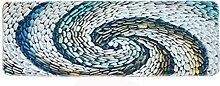 Epinki Polyester Teppiche Wirbel Stein Muster
