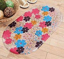 Epinki PVC Teppiche Blumen Muster Teppiche für