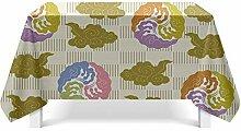 Epinki Tischdecken aus Polyester Blätter Design