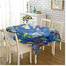 Epinki Tischdecken aus Polyester Fisch Design