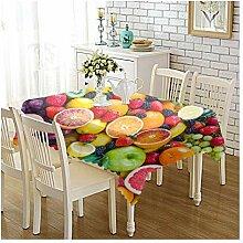 Epinki Tischdecken aus Polyester Früchte Design