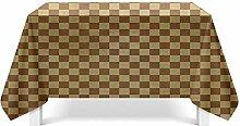 Epinki Tischdecken aus Polyester Gitter Design