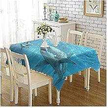 Epinki Tischdecken aus Polyester Haifisch Design