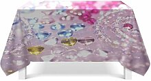 Epinki Tischdecken aus Polyester Kristall Design