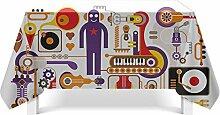 Epinki Tischdecken aus Polyester Musikelemente