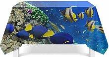 Epinki Tischdecken aus Polyester Unterwasserwelt