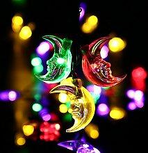 Eplze LED-Solarlicht Wasserdicht 5m 16.4ft 20LEDs Halbmond Lichterketten für Garten, Hochzeit, Weihnachten, Geburtstagsfeier, Feste (Multicolor)