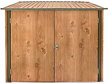 epro Fahrradbox Holz-Dekor Eiche