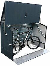 epro Outdoor Fahrradbox in anthrazit Terrasse