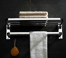 EQEQ Badezimmer Regal Mit Handtuchhalter Wc Falten