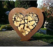 EQT-TEC *Premium* Edelrost Brennholz Holzregal