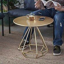 ER-JI Nordic Wohnzimmer Metall runder Tisch