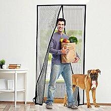 Erasky Magnet Fliegengitter Tür Insektenschutz, Der Magnetvorhang ist Ideal für die Balkontür, Kellertür, Terrassentür, Kinderleichte Klebemontage Ganz Ohne Bohren (100cm*220cm)