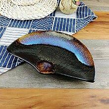 ERCZYO Schwarz blaue Farbe im japanischen Stil