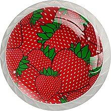 Erdbeerrot Küchenknopf Klarglasschrank
