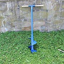 Erdbohrer 20 cm 200 mm Stahl, 1,5 Wendel 1 m lang,