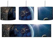 Erde im Weltall inkl. Lampenfassung E27, Lampe mit