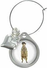 Erdmännchen Bild Design Weinglas Anhänger mit schicker Perlen