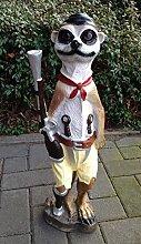 Erdmännchen Pirat mit Holzbein und Flinte Freibeuter 65cm