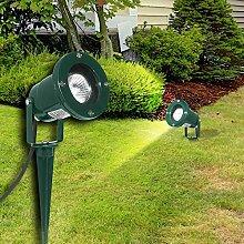 Erdspieß Strahler ↥360mm/ LED/ Grün/ Alu/ AUSSEN Lampe Leuchte Aussenlampe Aussenleuchte Aussenstrahler Erdspießstrahler Gartenlampe Gartenleuchte