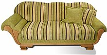 ERGE Polstermöbel Mod. Unken Couch mit Kopf-und Fußteil, Holz, Grün, Außenmaß 203cm, Gesamttiefe 80cm Gesamthöhe 90cm, Sitzhöhe 45cm Sitztiefe 51cm Seitenteihöhe 61/54cm