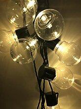 ERGEOB 20er LED Kugel Lichterkette warmweiß