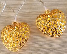 ERGEOB 30er LED 5m Lichterkette Golden Herz