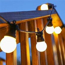 ERGEOB Aussen LED hängeleuchten Durchsichtig 20 Glühbirnen licht hochzeit dekoration