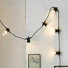ERGEOB Aussen LED hängeleuchten weiß 10 Glühbirnen licht hochzeit dekoration