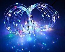 ERGEOB Lichterkette Weihnachtsdeko 100er LED 10M