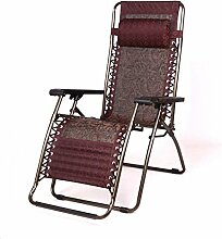 Ergonomische Stuhl Folding Nap Lounge Büro Nap Chair Balkon Liege Stuhl Klappstuhl Lazy Sofa (Farbe optional) ( farbe : A )