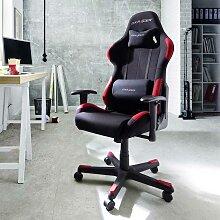 Ergonomischer Bürostuhl im Racer Design Schwarz