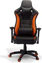 Ergonomischer Bürostuhl in Schwarz und Orange