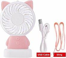 Ergou Ventilator Mini USB Lade Cartoon Tragbarer