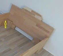 erhöhtes Komfortbett Buche massiv - Seniorenbett