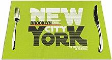Ering6o New York City gewebte Platzdeckchen,