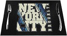 Ering6o New York City Stilvolle Schriftart gewebte